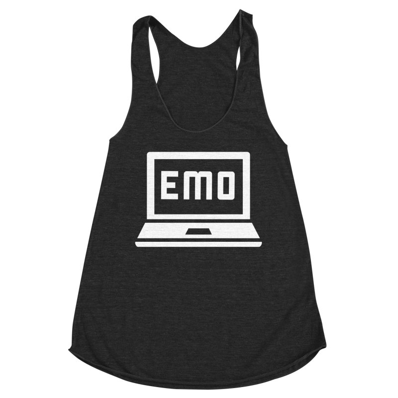 Stop All The Downloading Women's Racerback Triblend Tank by Washed Up Emo