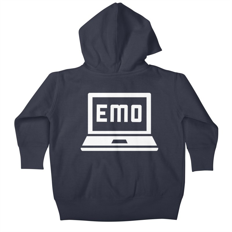 Stop All The Downloading Kids Baby Zip-Up Hoody by Washed Up Emo