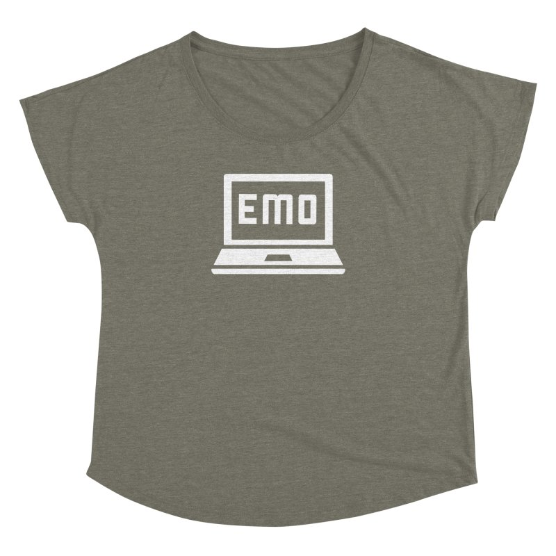 Stop All The Downloading Women's Dolman Scoop Neck by Washed Up Emo