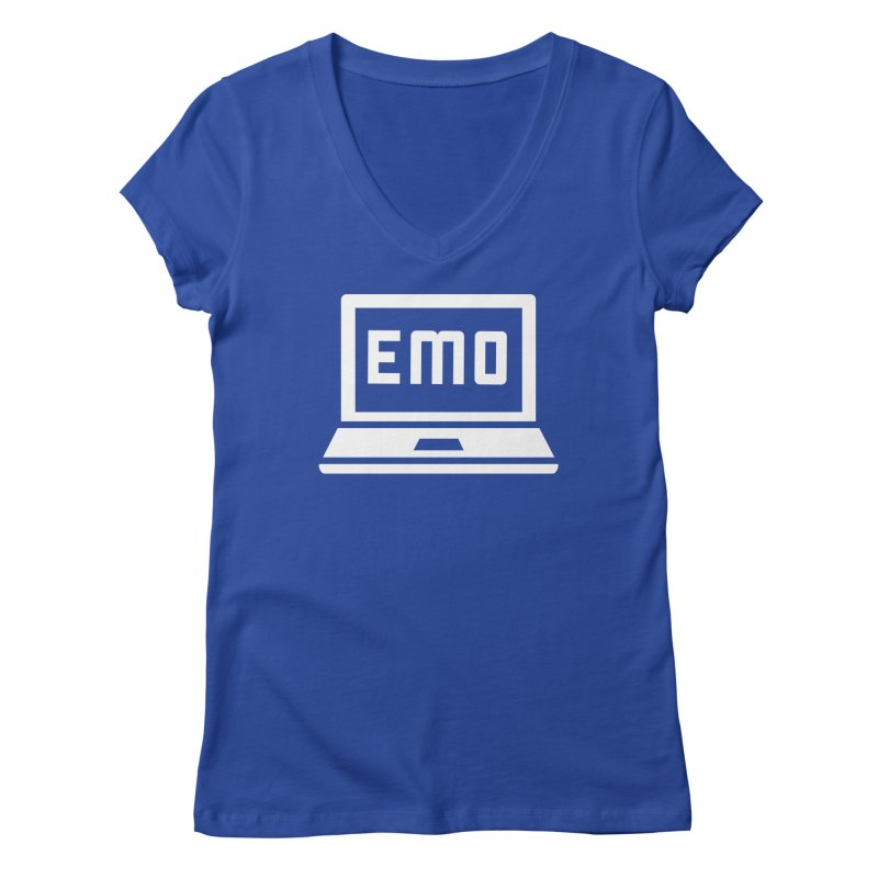 Stop All The Downloading Women's Regular V-Neck by Washed Up Emo