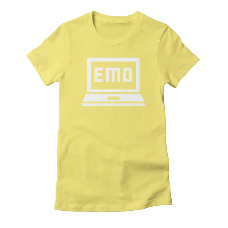 Stop All The Downloading Women's Fitted T-Shirt by Washed Up Emo