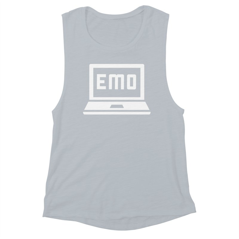 Stop All The Downloading Women's Muscle Tank by Washed Up Emo
