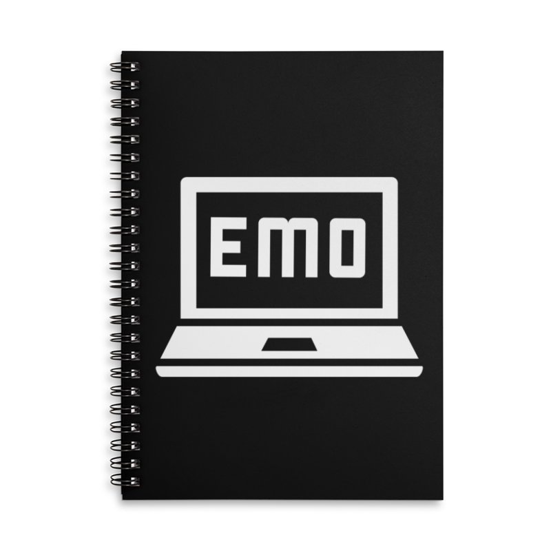 Stop All The Downloading Accessories Lined Spiral Notebook by Washed Up Emo
