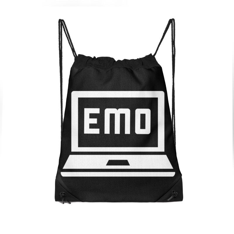 Stop All The Downloading Accessories Drawstring Bag Bag by Washed Up Emo