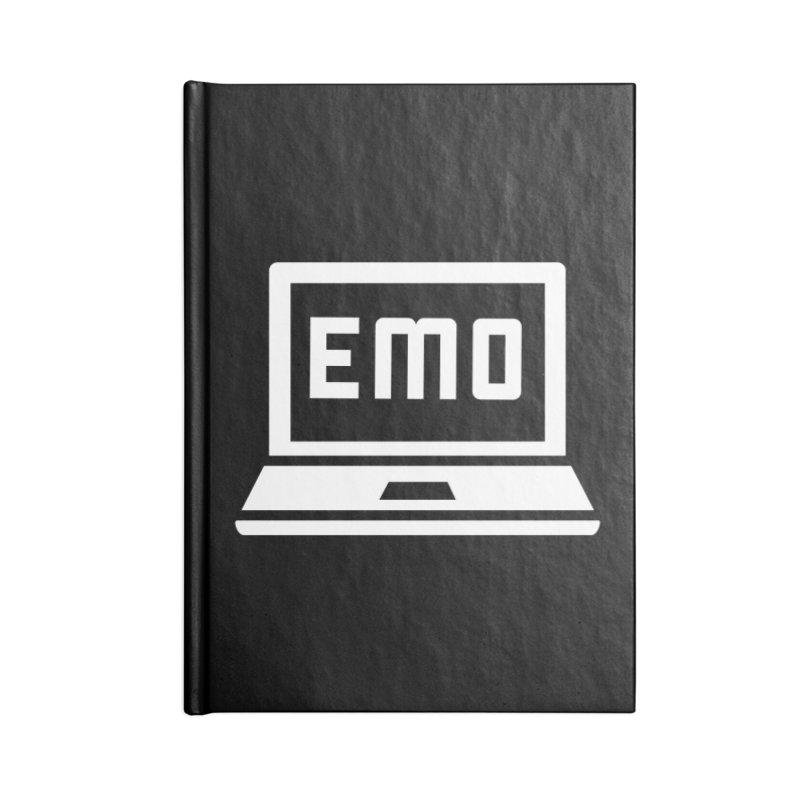 Stop All The Downloading Accessories Lined Journal Notebook by Washed Up Emo