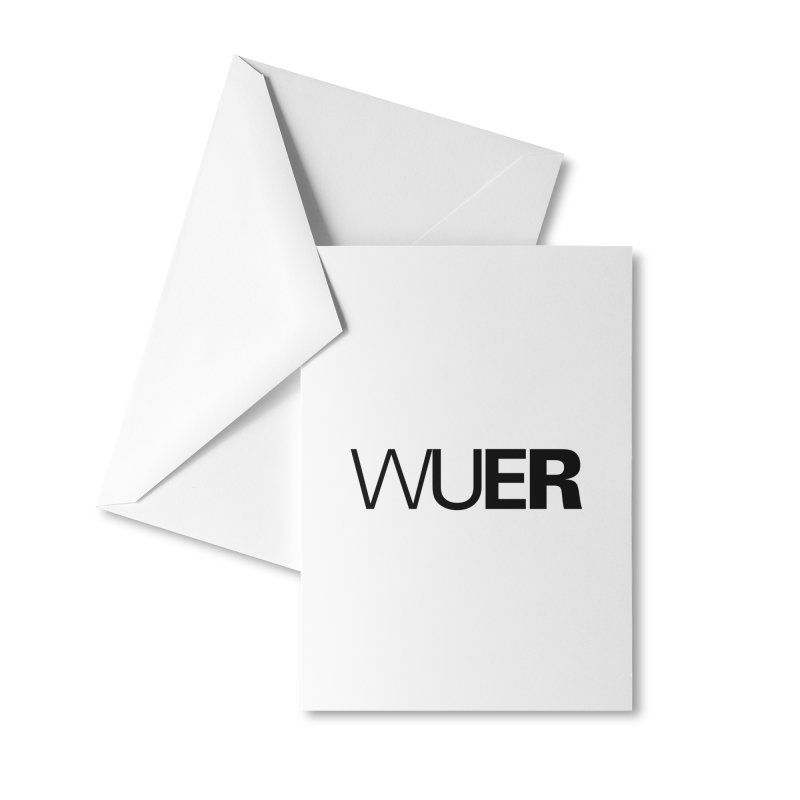WUER (Washed Up Emo Radio) Accessories Greeting Card by Washed Up Emo