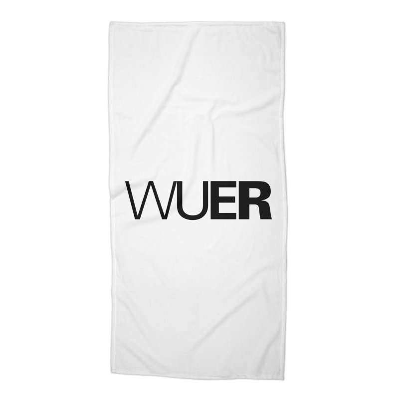 WUER (Washed Up Emo Radio) Accessories Beach Towel by Washed Up Emo