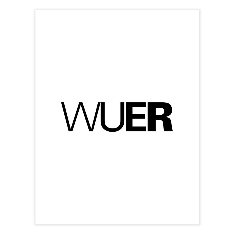 WUER (Washed Up Emo Radio) Home Fine Art Print by Washed Up Emo