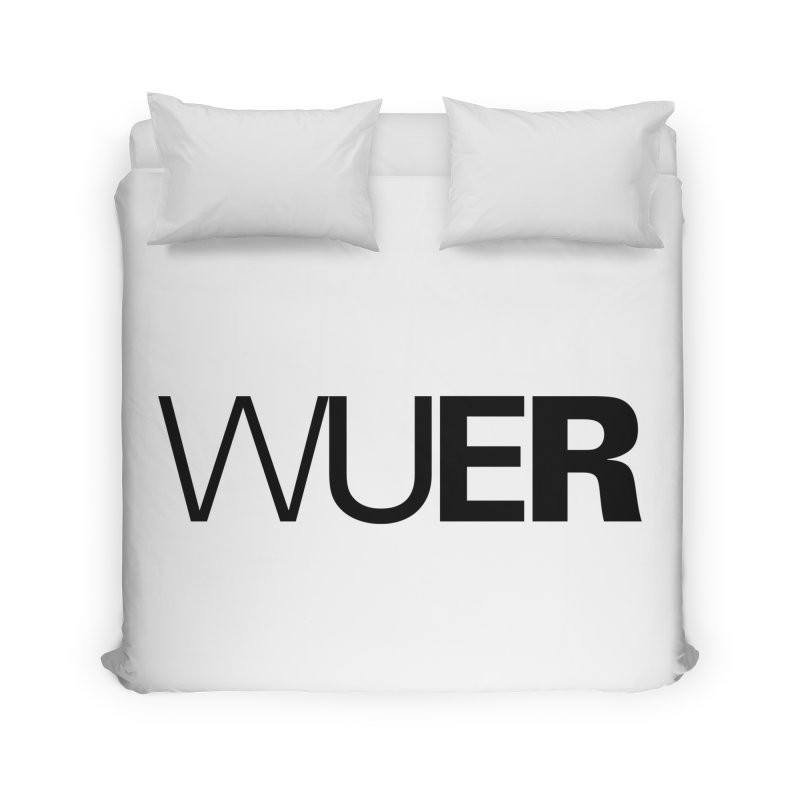 WUER (Washed Up Emo Radio) Home Duvet by Washed Up Emo