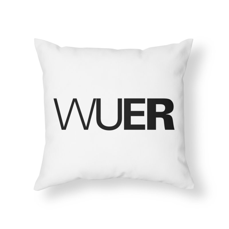 WUER (Washed Up Emo Radio) Home Throw Pillow by Washed Up Emo