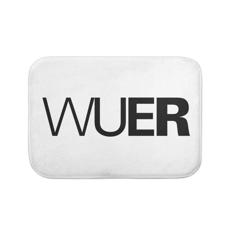 WUER (Washed Up Emo Radio) Home Bath Mat by Washed Up Emo