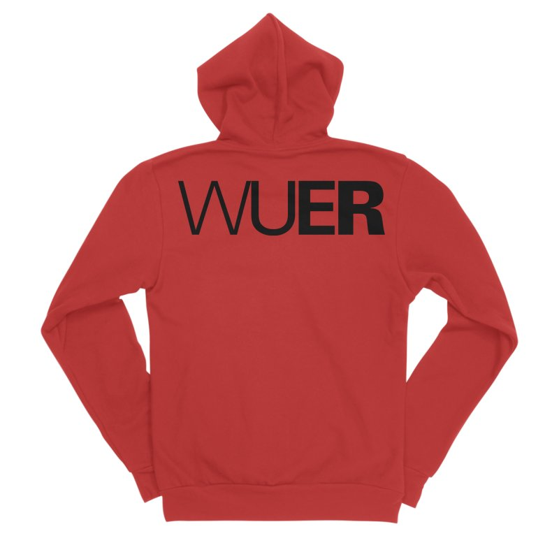 WUER (Washed Up Emo Radio) Women's Zip-Up Hoody by Washed Up Emo