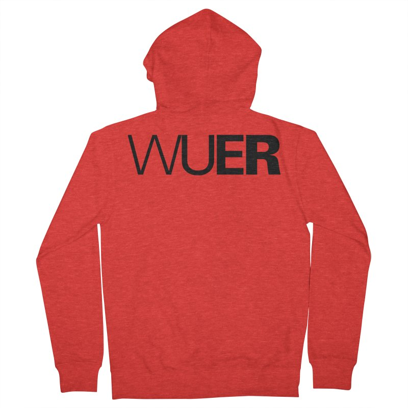 WUER (Washed Up Emo Radio) Men's Zip-Up Hoody by Washed Up Emo