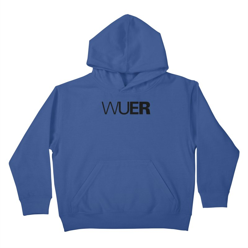 WUER (Washed Up Emo Radio) Kids Pullover Hoody by Washed Up Emo