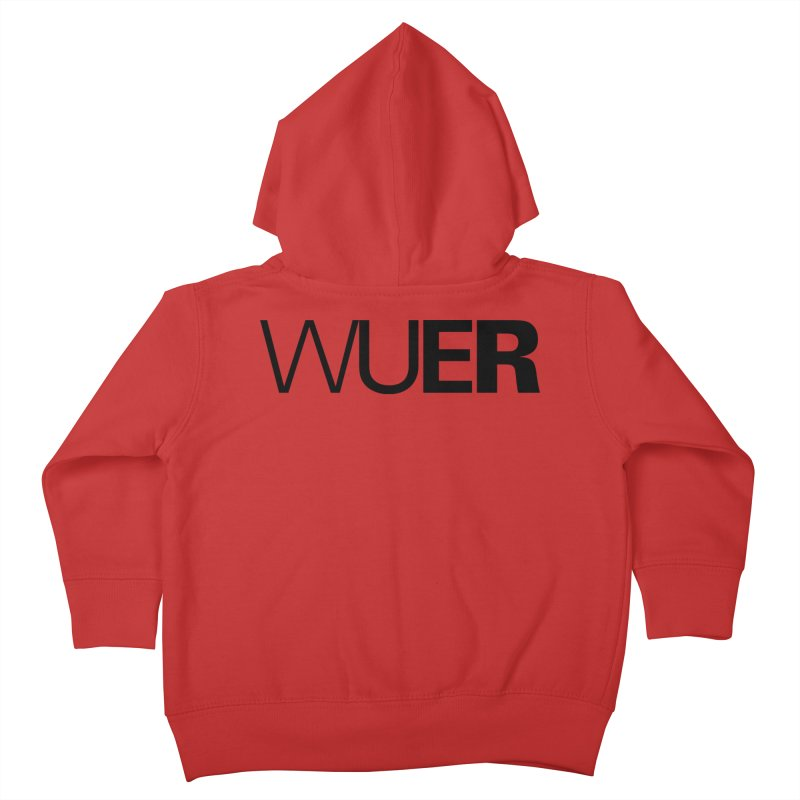 WUER (Washed Up Emo Radio) Kids Toddler Zip-Up Hoody by Washed Up Emo