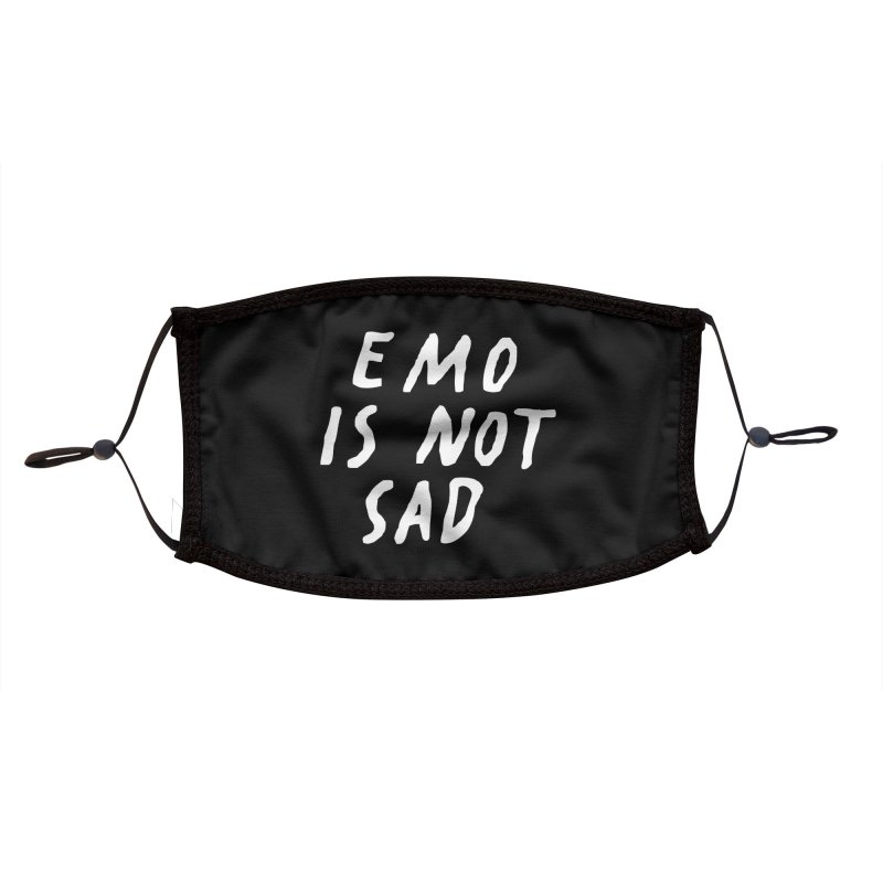 Emo is Not Sad  Accessories Face Mask by Washed Up Emo