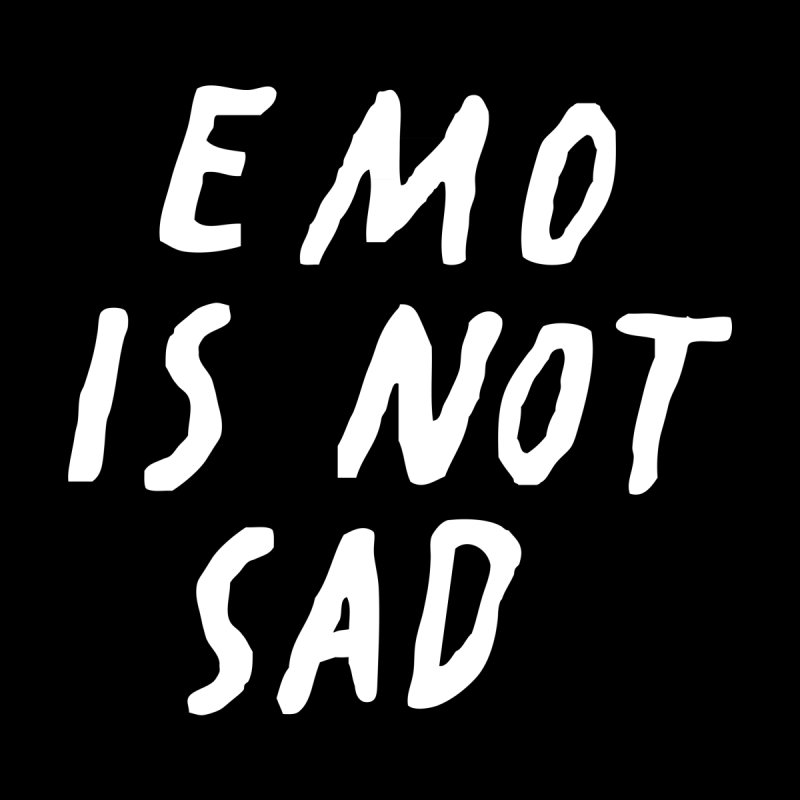 Emo is Not Sad  Home Bath Mat by Washed Up Emo