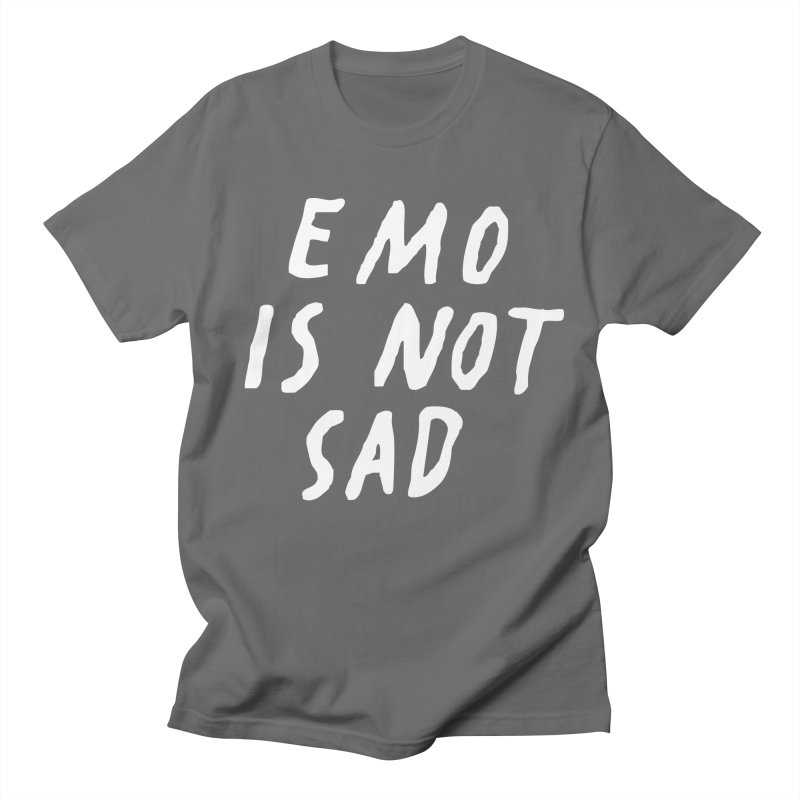 Emo is Not Sad  Men's T-Shirt by Washed Up Emo