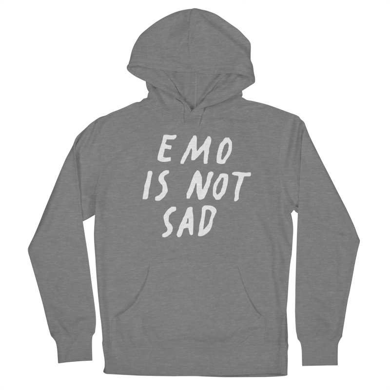 Emo is Not Sad  Women's Pullover Hoody by Washed Up Emo