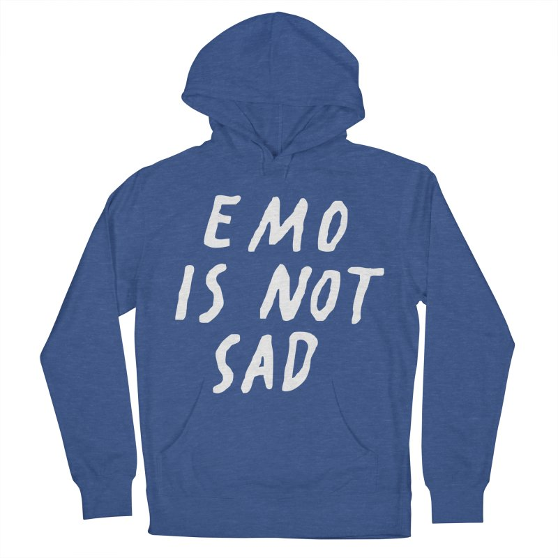 Emo is Not Sad  Women's French Terry Pullover Hoody by Washed Up Emo