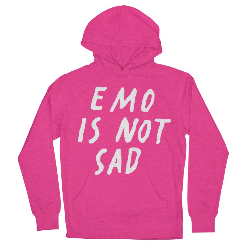 Emo is Not Sad  Men's French Terry Pullover Hoody by Washed Up Emo