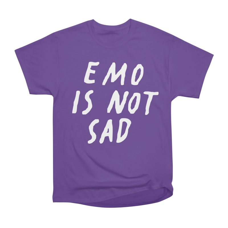 Emo is Not Sad  Men's Heavyweight T-Shirt by Washed Up Emo