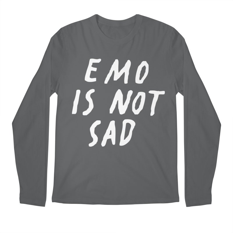 Emo is Not Sad  Men's Longsleeve T-Shirt by Washed Up Emo