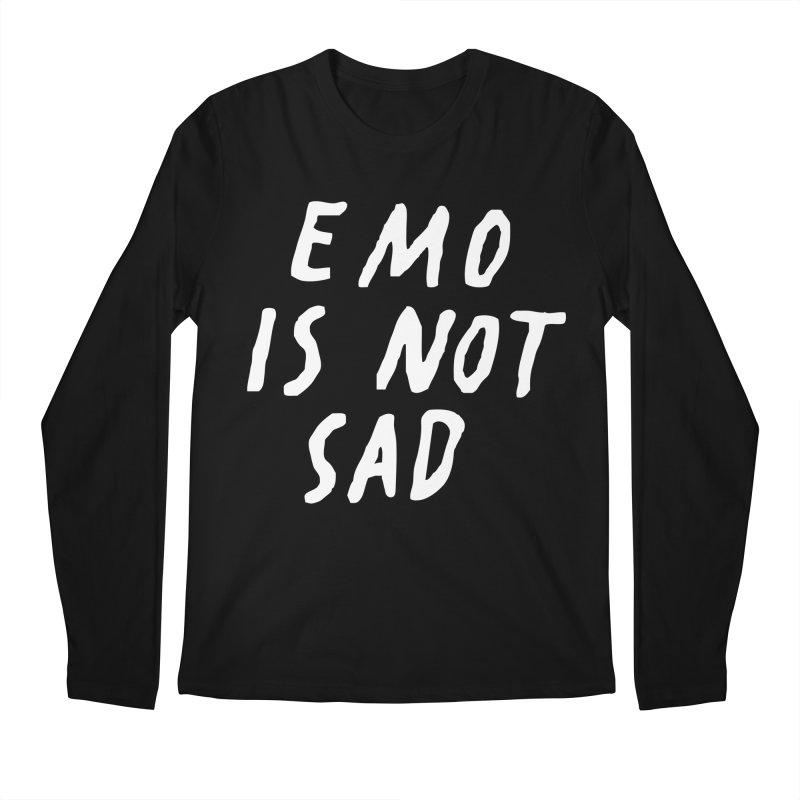 Emo is Not Sad  Men's Regular Longsleeve T-Shirt by Washed Up Emo