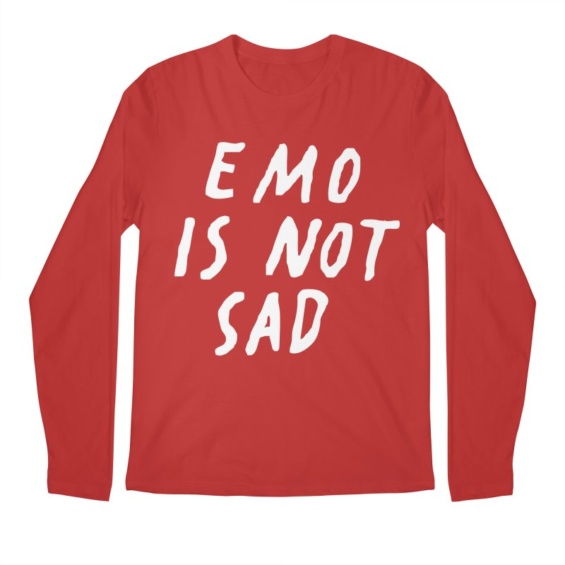 Emo is Not Sad  Men's Regular Longsleeve T-Shirt by Washed Up Emo