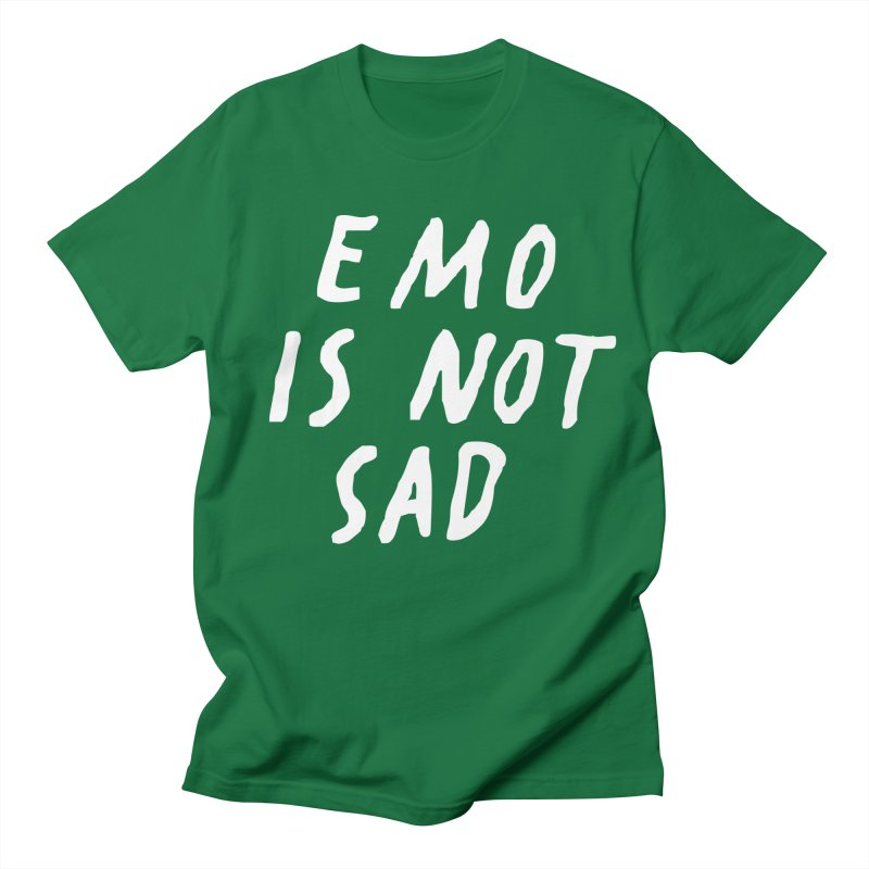 Emo is Not Sad  Women's Regular Unisex T-Shirt by Washed Up Emo