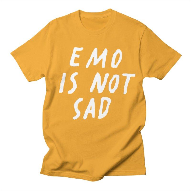 Emo is Not Sad  Men's Regular T-Shirt by Washed Up Emo