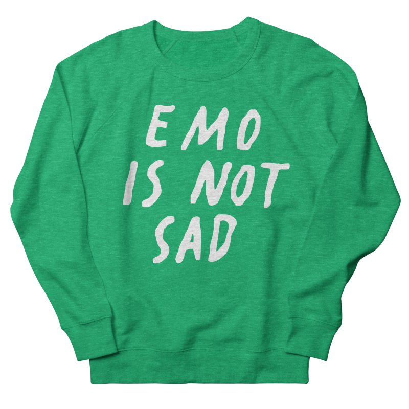 Emo is Not Sad  Women's Sweatshirt by Washed Up Emo
