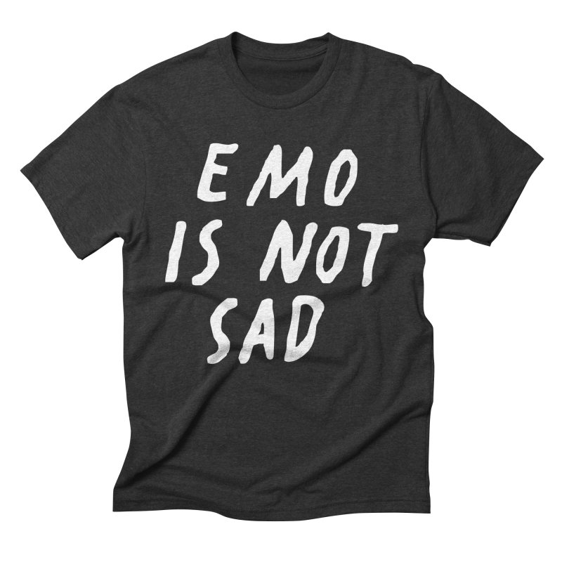 Emo is Not Sad  Men's Triblend T-Shirt by Washed Up Emo