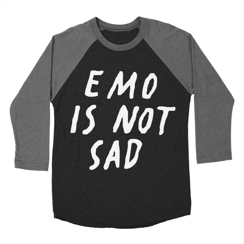 Emo is Not Sad  Men's Baseball Triblend Longsleeve T-Shirt by Washed Up Emo