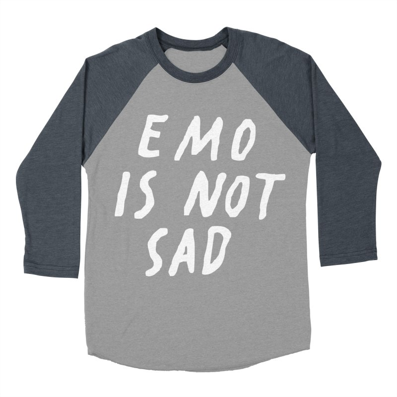 Emo is Not Sad  Men's Baseball Triblend Longsleeve T-Shirt by Washed Up Emo