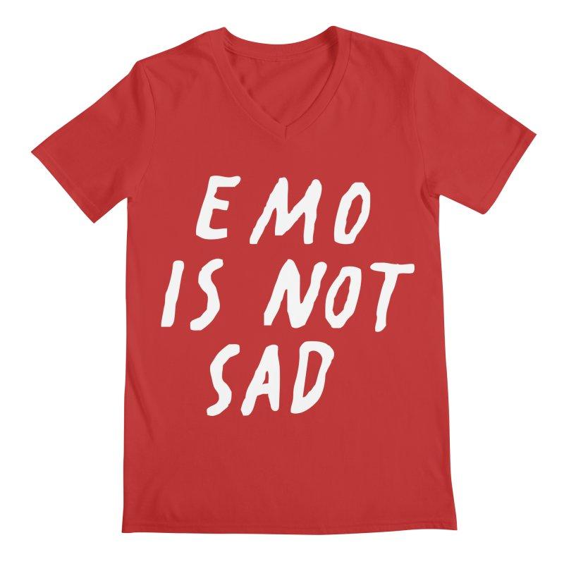 Emo is Not Sad  Men's V-Neck by Washed Up Emo