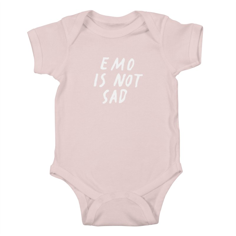 Emo is Not Sad  Kids Baby Bodysuit by Washed Up Emo