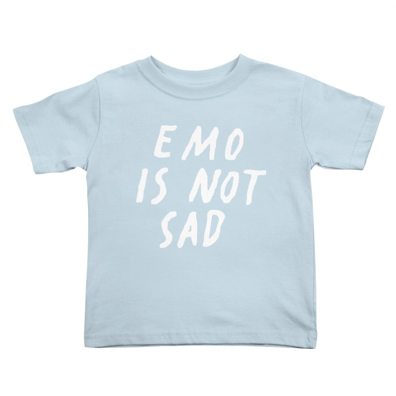 Emo is Not Sad  Kids Toddler T-Shirt by Washed Up Emo