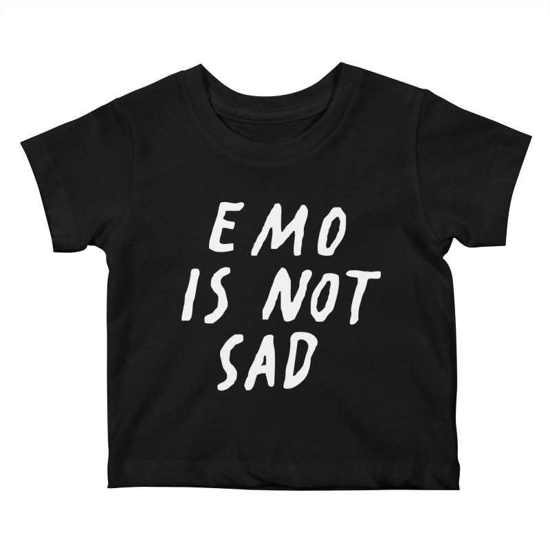 Emo is Not Sad  Kids Baby T-Shirt by Washed Up Emo