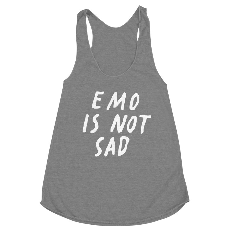 Emo is Not Sad  Women's Tank by Washed Up Emo