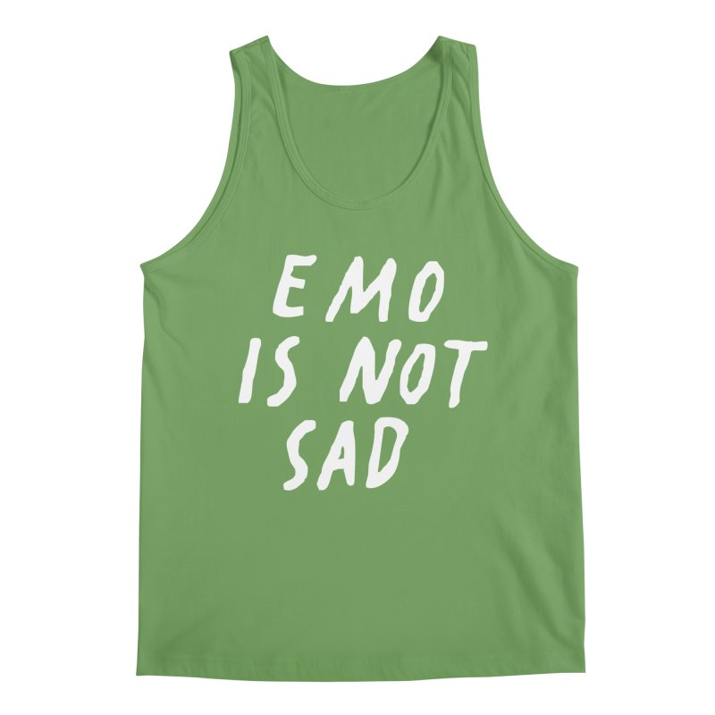 Emo is Not Sad  Men's Tank by Washed Up Emo
