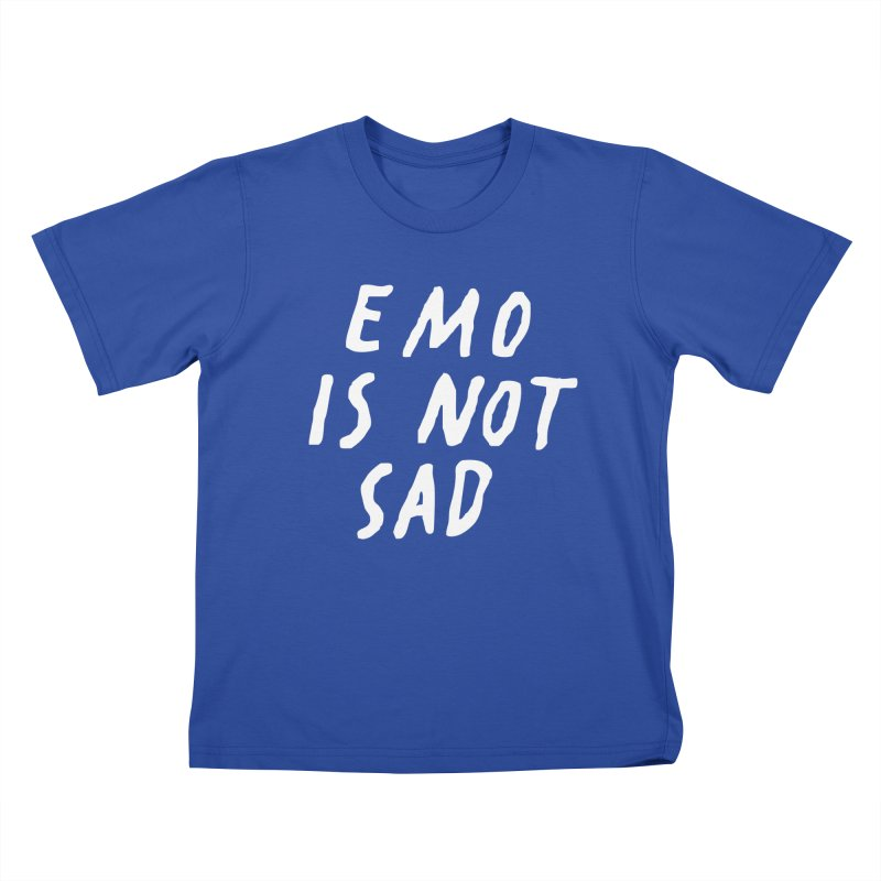 Emo is Not Sad  Kids T-Shirt by Washed Up Emo