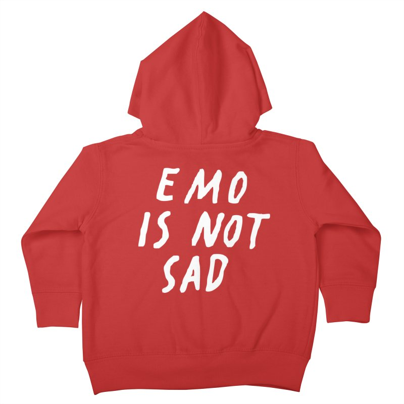 Emo is Not Sad  Kids Toddler Zip-Up Hoody by Washed Up Emo