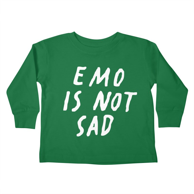 Emo is Not Sad  Kids Toddler Longsleeve T-Shirt by Washed Up Emo
