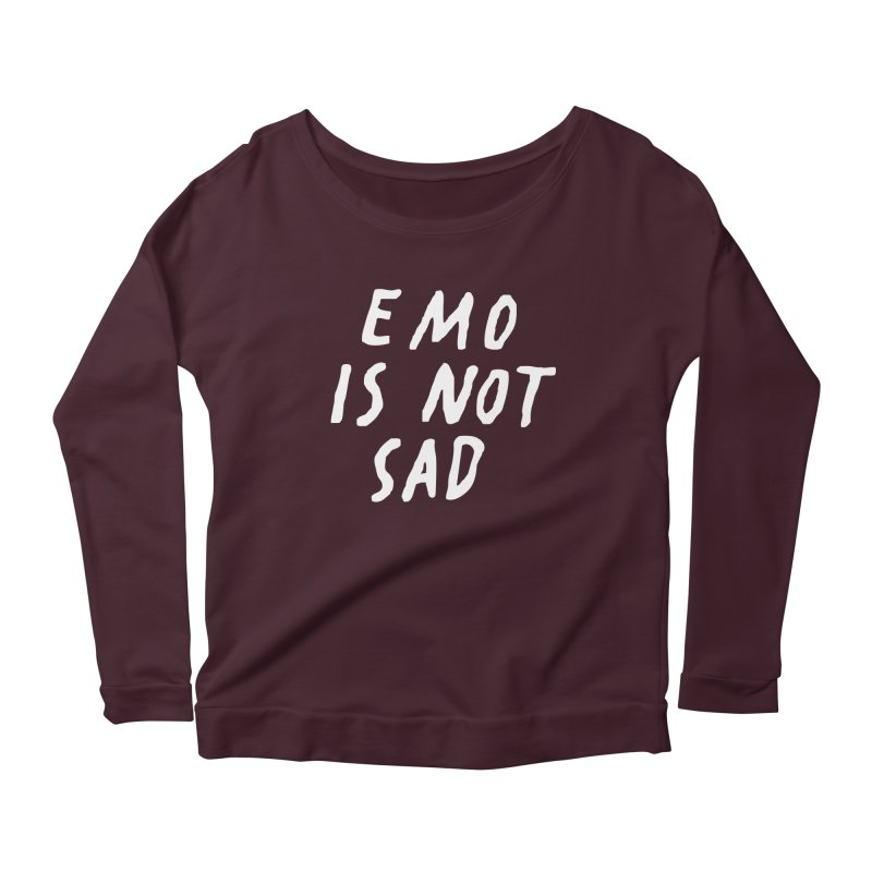 Emo is Not Sad  Women's Longsleeve T-Shirt by Washed Up Emo