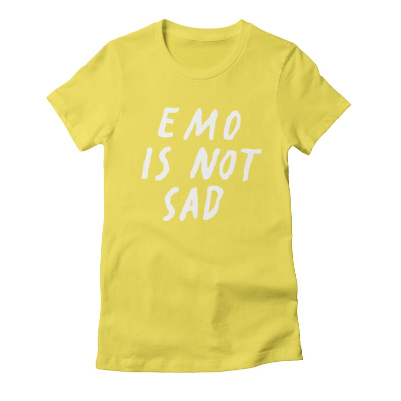Emo is Not Sad  Women's Fitted T-Shirt by Washed Up Emo