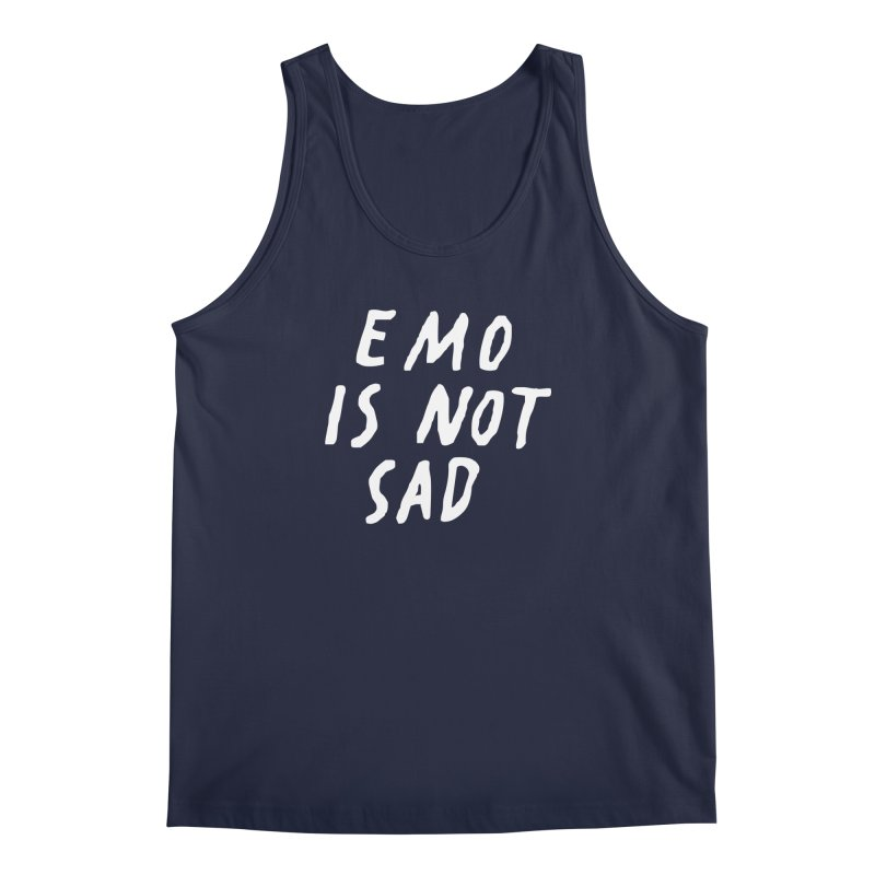 Emo is Not Sad  Men's Regular Tank by Washed Up Emo