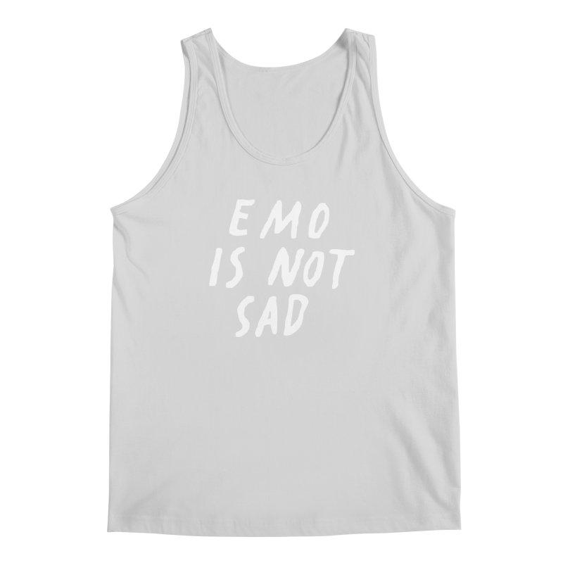 Emo is Not Sad  Men's Regular Tank by Washed Up Emo