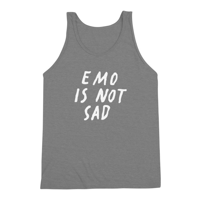 Emo is Not Sad  Men's Triblend Tank by Washed Up Emo