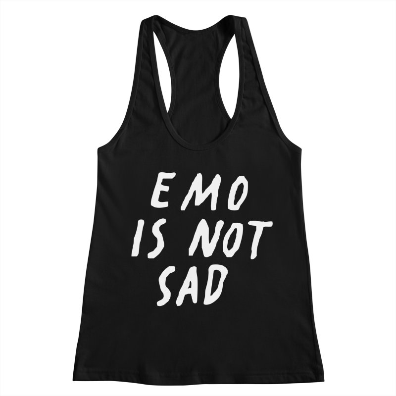 Emo is Not Sad  Women's Racerback Tank by Washed Up Emo